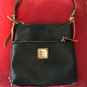 Dooney Burke crossbody purse black and leather